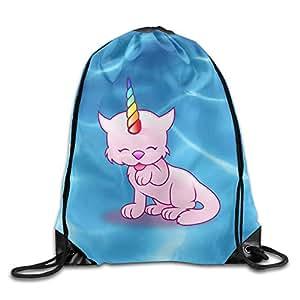 Rainbow Caticorn deportes cordón mochilas resistente poliéster cordón deportes ventilador sackpacks para viajes
