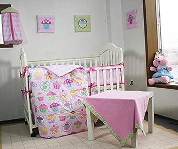 Amazon Com 100 Cotton Pink Nursery Crib Bedding Set Colorful Cup