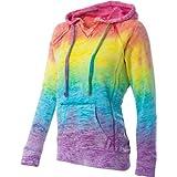 MV Sport Burnout V-Notch Hooded Sweatshirt. W1162