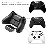 Insten LED Dual Charging Station Dock with 2x 2400mAh Rechargeable Batteries For Microsoft Xbox One / Xbox One S / Xbox One Elite / Xbox One X Wireless Remote Controller