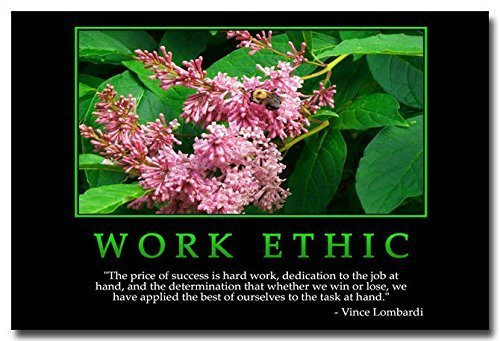 Tomorrow sunny Work Ethic - Inspirational Quotes Silk Poster