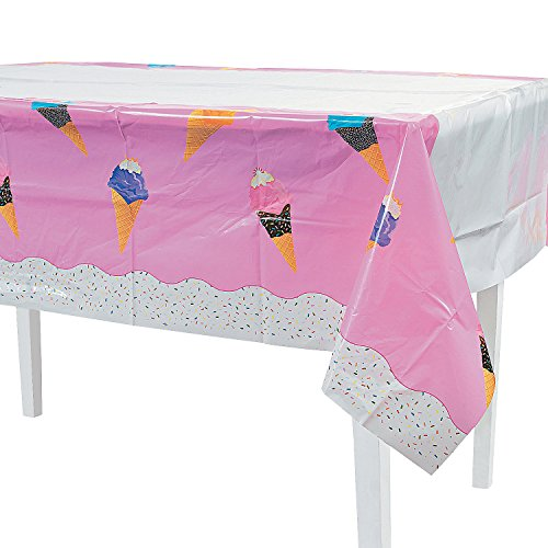 I Scream for Ice Cream Plastic Table Cover -