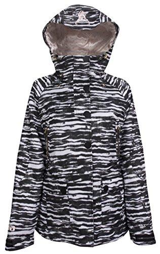Stripe Armada - EIRA Women's Whiteout Jacket, Zebra Stripe, Medium