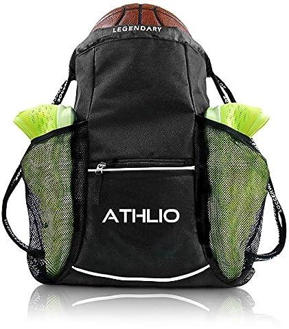 Legendary Drawstring Gym Bag - XL Capacity | Fits All Sports Gear | Waterproof Heavy-Duty Sackpack/Backpack (Black - Seattle Seahawks Disc