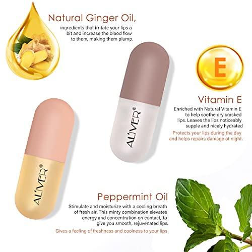 2 Stück Lip Plumper NatüRliches Lippenstift Makeup Lipgloss Set Lip Care Kosmetik Kit Beauty Lips Verwenden Sie Es Mit Lippenstift FüR Mehr Glanz
