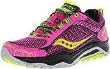 Cheap Saucony Women's Grid Excursion TR9 Trail Running Shoe, Pink/Grey/Citron, 8 M US