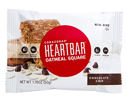 Heartbar Oatmeal Square, Chocolate Chip, 1.76 Ounce (Pack of 12) (Chewy Chip Oatmeal Chocolate)