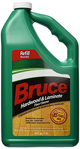 Bruce Hardwood and Laminate Floor Cleaner for All No-Wax Urethane Finished Floors Refill 64oz - Pack of 4 by Bruce C