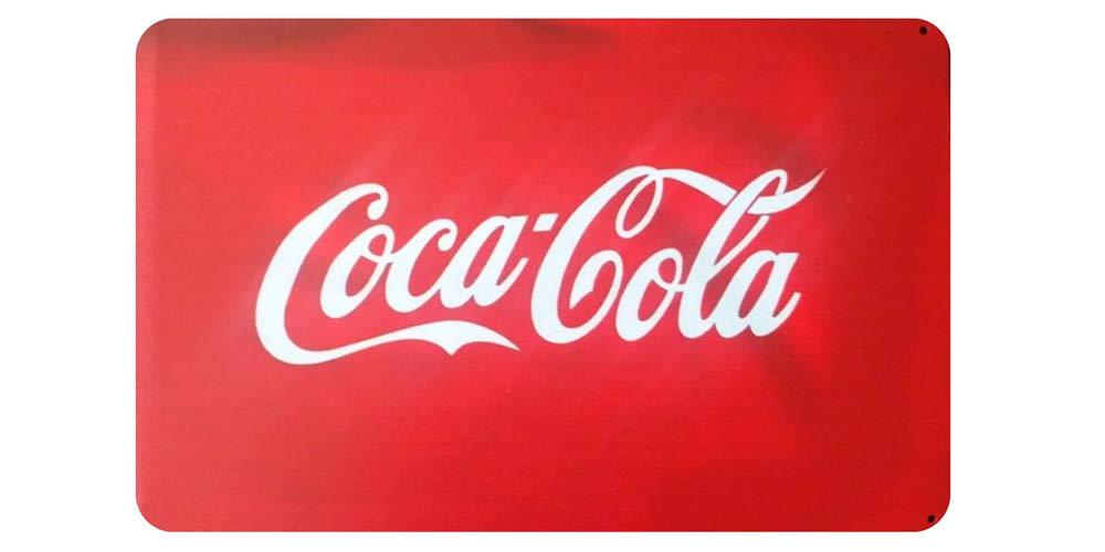 MARQUISE & LOREAN Coca Cola Placas Decorativas Pared Cocacola Chapas Vintage Metálicas Cocacola Elígeme (20 x 30 cm, Rojo)