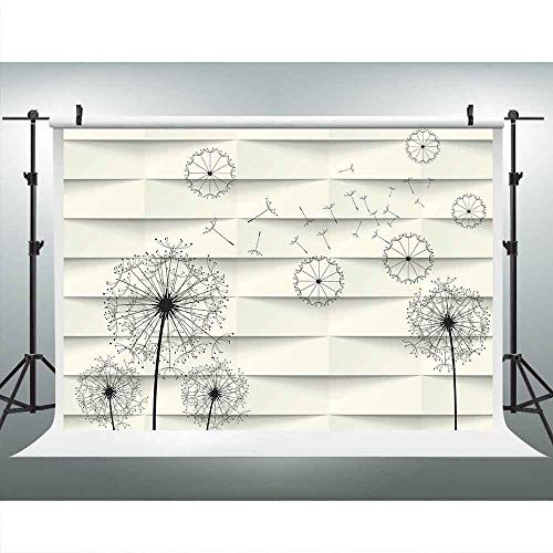 Countryside Wallpaper Mural - LUCKSTY Flying Dandelion Backdrops for Photography 9x6FT Artwork Photo Backgrounds for Wall Paper Room Mural Hanging Studio Props LUM019