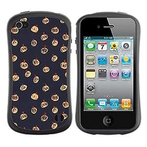 """Hypernova Slim Fit Dual Barniz Protector Caso Case Funda Para Apple iPhone 4 / iPhone 4S [Halloween de la caída del otoño Patrón Gris""""]"""