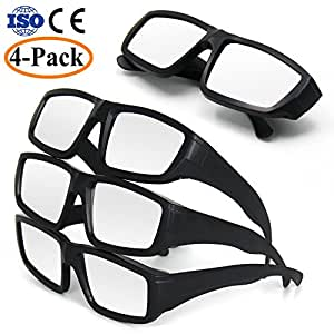 NEWBEA Solar Eclipse Glasses - CE and ISO Certified Safe Shades for Direct Sun Viewing - Sun Eye Protection - Direct Solar Viewing (Black 4PCS)