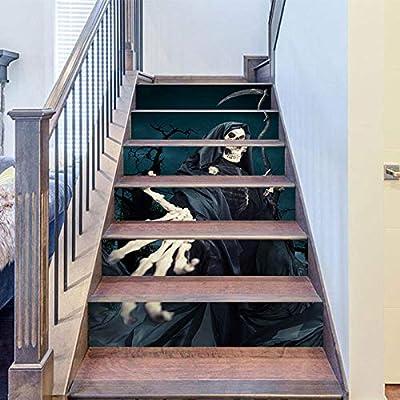 Alta calidad nuevo extraíble Halloween pegatinas de pared hoz fantasma mano autoadhesiva papel decoración del hogar escalera escaleras {2 sets}: Amazon.es: Bricolaje y herramientas