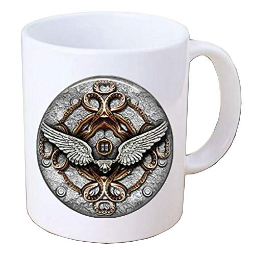 Angel Wings Pictuer dome glass Mug Coffee Mug Steampunk jewelry,Angel Wings Jewelry, Angel Coffee Mug, Wings Coffee Mug, Gift For Her, Angel Jewelry, Gift Idea,PU232 ()