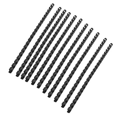 (Chris.W Plastic Binding Combs 21-Ring, Black Comb Binding Ring, 8mm, 40-Sheet(80gsm 20lb) Capacity, Max. Binding A4 Size Paper (8.3 x 11.7inches) Box of 100)