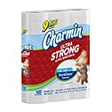 Charmin Ultra Strong Toilet Paper 9-Count, 121 sheets 1.5x regular rolls (Pack of 4)