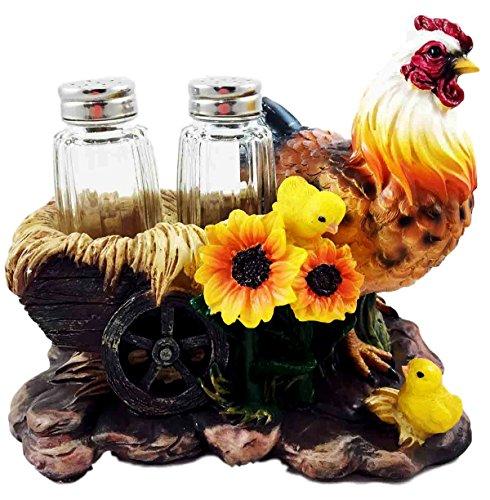 Farm Hay Wagon Sunflower Mother Hen With Chicks Salt Pepp...
