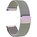 lg g watch accessories - 7 Colors for Quick Release Watch Strap, Fullmosa Milanese Magnetic Closure Stainless Steel Watch Band Replacement Strap for 18mm Colorful