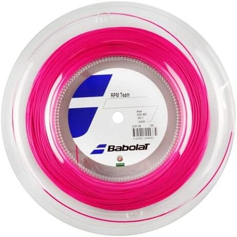 Babolat(バボラ) RPM チーム 200Mロール 硬式テニスガット/ピンク/1.25mm