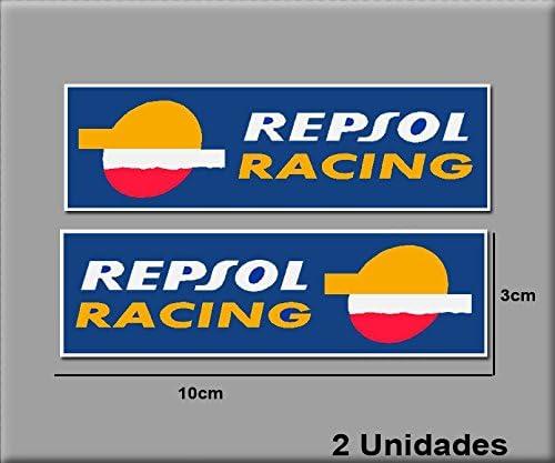 12 x 3,5 cm Ecoshirt 8R-SDX0-ZXAW Stickers Repsol Racing Ref R182 Aufkleber Autocollants Stickers Moto GP Decals Motorcycle