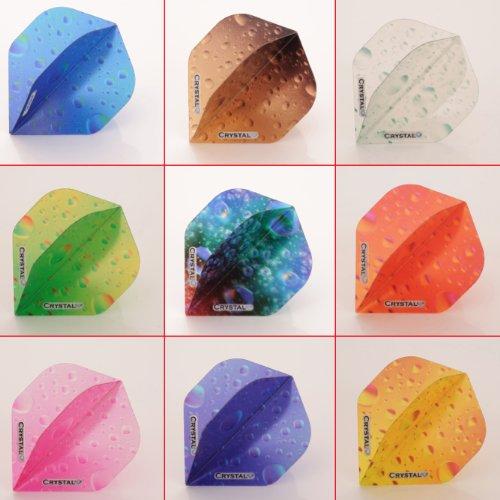 5 x Mixed Sets of Crystal Dart Flights Standard Shape ()
