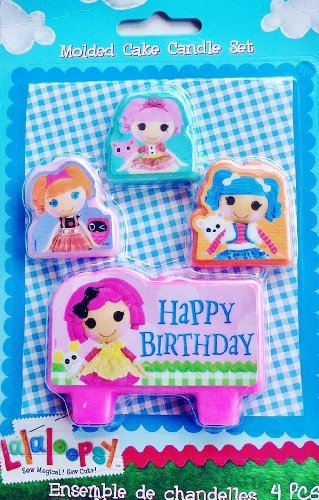 Lalaloopsy Birthday Party Molded Candle Set - 4 Pcs
