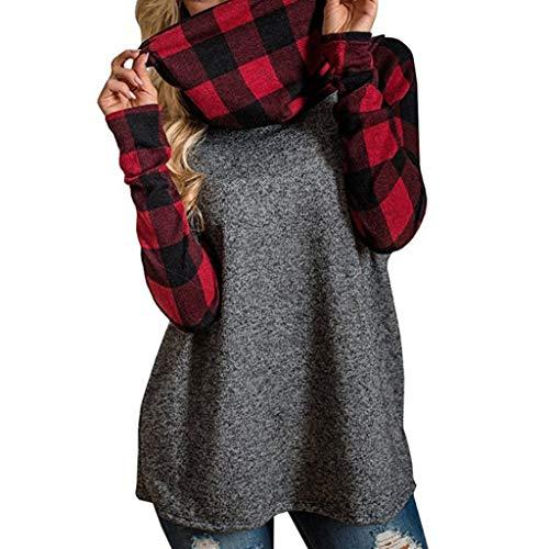 beautyjourney Felpe donna con cappuccio tumblr ragazza eleganti donna grandi sweatshirt donna tumblr hoodie maniche lunghe - Donne donna manica lunga felpa top camicetta Multicolore