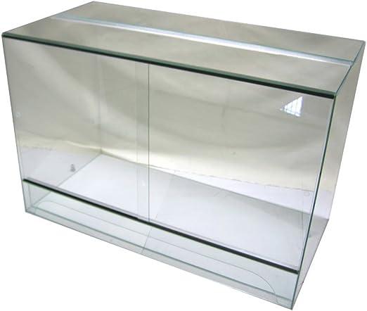 Terrario 100 x 50 x 80 cm con puerta corredera, cristal Terrario, serpentinas pogona gekkos: Amazon.es: Productos para mascotas