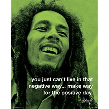 Bob Marley Positive Day Iphilosophy Music Quote Poster Print 16x20