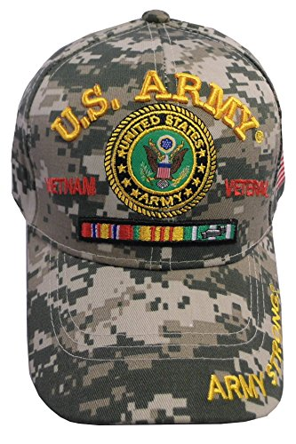 Army Strong Men's U.S. Army Vietnam Veteran Hat Military Baseball Cap (One Size Fits All, Digital Camo)