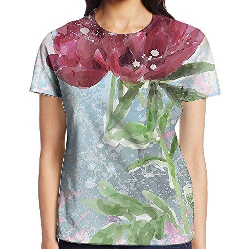 WuLion Peony Flower Murky Blossom Nature Beauty Growth Women's 3D Print T Shirt XXL White - Peony Coffee Grinder