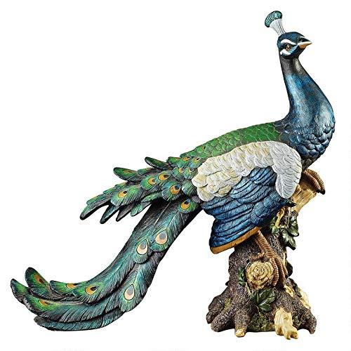 Design Toscano Palace Peacock Garden Statue, Multicolored (Peacock Garden)
