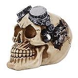 New Creative Homo Sapiens Model Skull Head Statue Wearing Sun Glasses Figurine Human Shaped Resin Skeleton Halloween Decor Terror Collection by Miya - #09