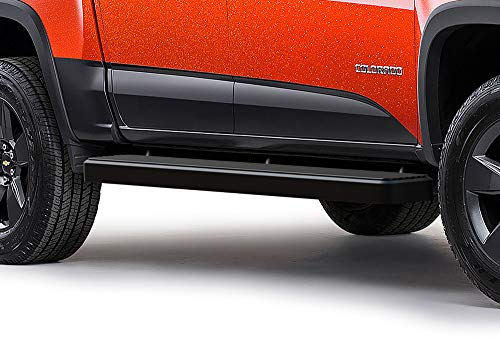 Boards Colorado Running Chevy - APS iBoard (Black Powder Coated 6 inches) Running Boards | Nerf Bars | Side Steps | Step Rails for 2015-2019 Chevy Colorado/GMC Canyon Crew Cab Pickup 4-Door