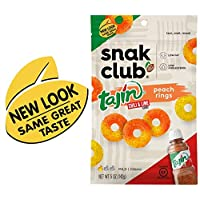 Snak Club Tajin Peach Rings, 5 Ounce, 6 Count