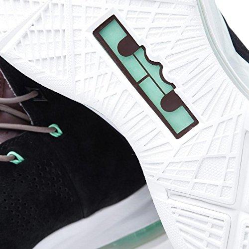 Mens Nike Lebron 10 Ext Qs Zwart Suede Basketbalschoenen - 607078 001