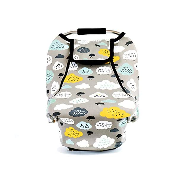 Stretchy Baby Car Seat Covers for Boys Girls, Infant Car Canopy Spring Autumn Winter,Snug Warm Breathable Windproof