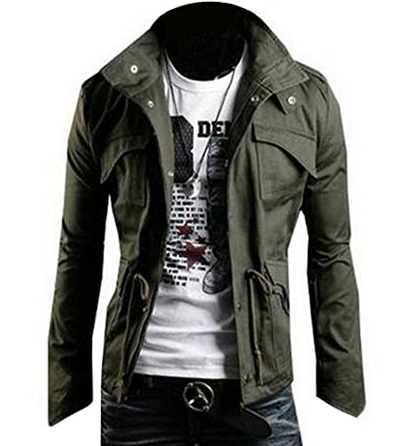 Zicac Casual Fashion Military Button