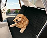 Cheap Elegant Comfort Quilted%100 Waterproof Premium Quality Bench Car Seat Protector Cover (Entire Rear Seat) for Pets – Ties to Stop Slipping Off The Bench, Black