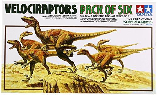 1:35 Pack Of 6 Velociraptors
