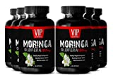 Weight loss supplement with Moringa Oleifera - MORINGA OLEIFERA EXTRACT 1200mg - Digestive health - 6 Bottles 360 Capsules