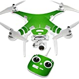 MightySkins Protective Vinyl Skin Decal for DJI Phantom 3 Standard Quadcopter Drone wrap cover sticker skins Lime Carbon Fiber