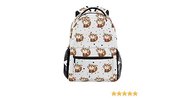 Lyetny Red Panda Bookbag School Bags Daily Backpacks Daypack for Students