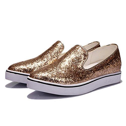 De Mujer Vestir 1to9 Para Dorado Zapatos 5SwP7q8xFx