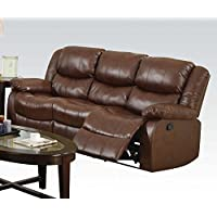 ACME Fullerton Brown Bonded Leather Sofa