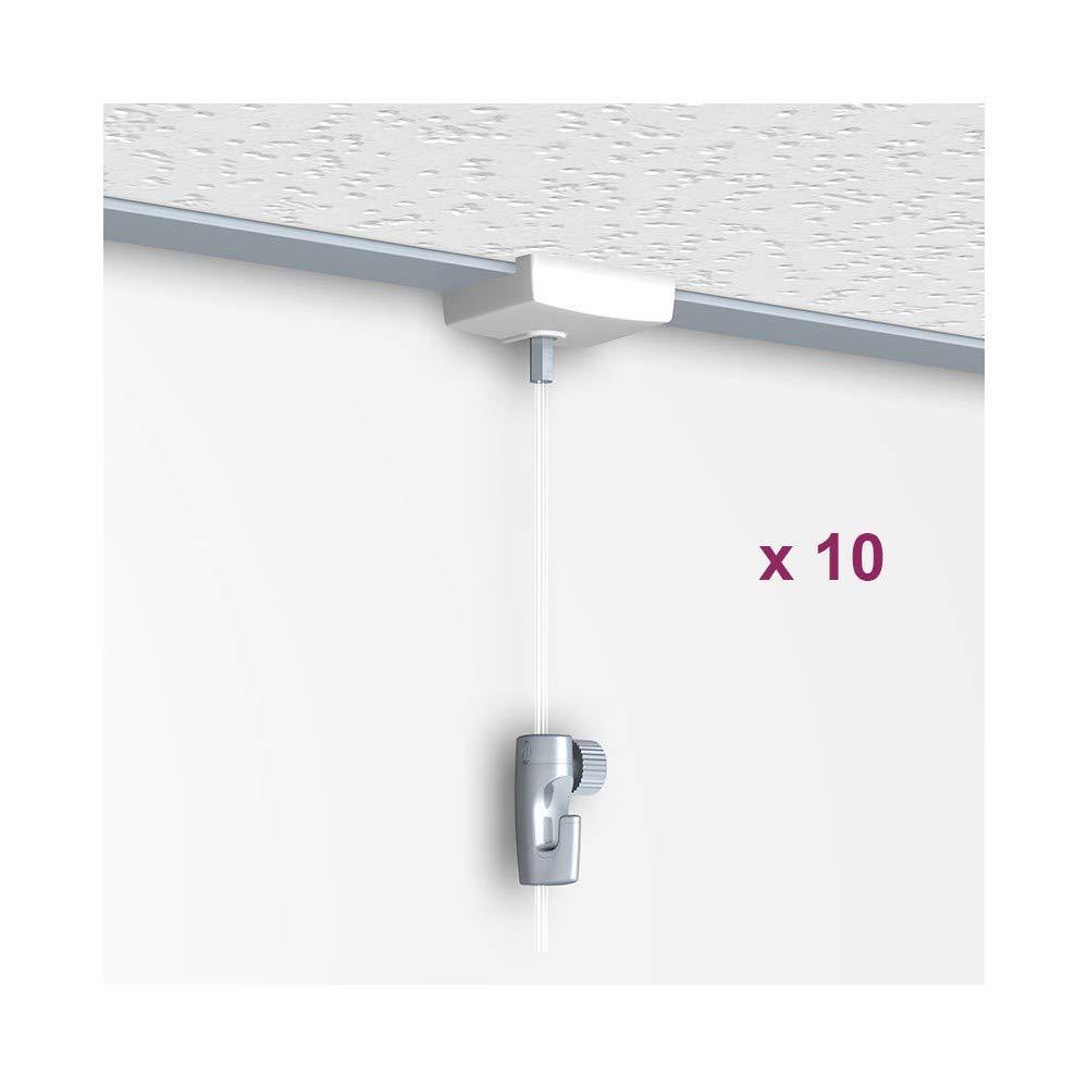 Newly H50 - Colgador de techo, sistema de gancho para falso techo, 200 cm
