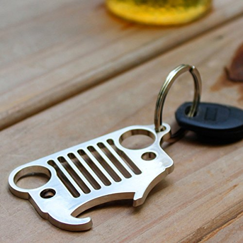 jeep grill keychain bottle opener apphome heavy duty 304 stainless steel key. Black Bedroom Furniture Sets. Home Design Ideas