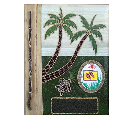 Photo Album Palm Tree - Photo Album Palm Tree Banana Leaf Handcrafted Portrait Style Photo Album Eco Friendly 12