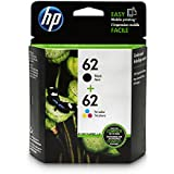 HP 62 Black & Tri-color Original Ink Cartridges, 2 Cartridges (C2P04AN, C2P06AN)
