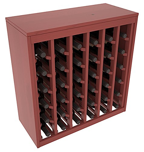 (Wine Racks America Ponderosa Pine 36 Bottle Deluxe. Cherry Stain + Satin)